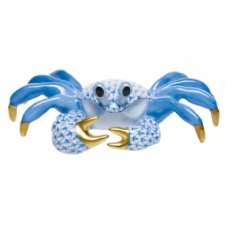 Herend Porcelain Fishnet Figurine of a Ghost Crab